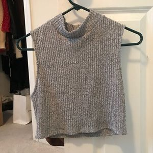 Urban Outfitters ribbed sweater mock neck crop